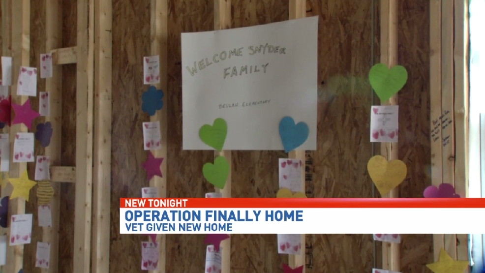 Operation finally home house built for iraq veteran wear for Operationfinallyhome org