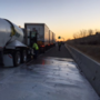 Milk on the Road: Tanker spills its load along Interstate-84 near Ten Mile
