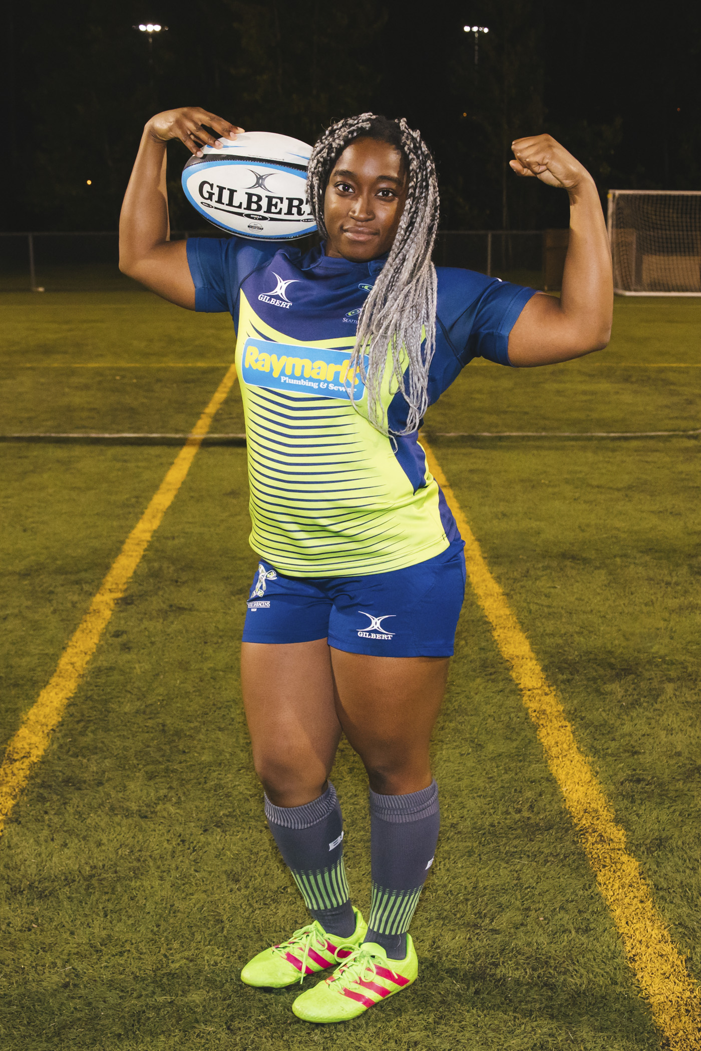 Meet Uche! When she isn't my fitspo or a weight lifting QUEEN, Uche plays hooker or prop for the Saracens. Her favorite movie is Miss Congeniality (Image: Sunita Martini / Seattle Refined).