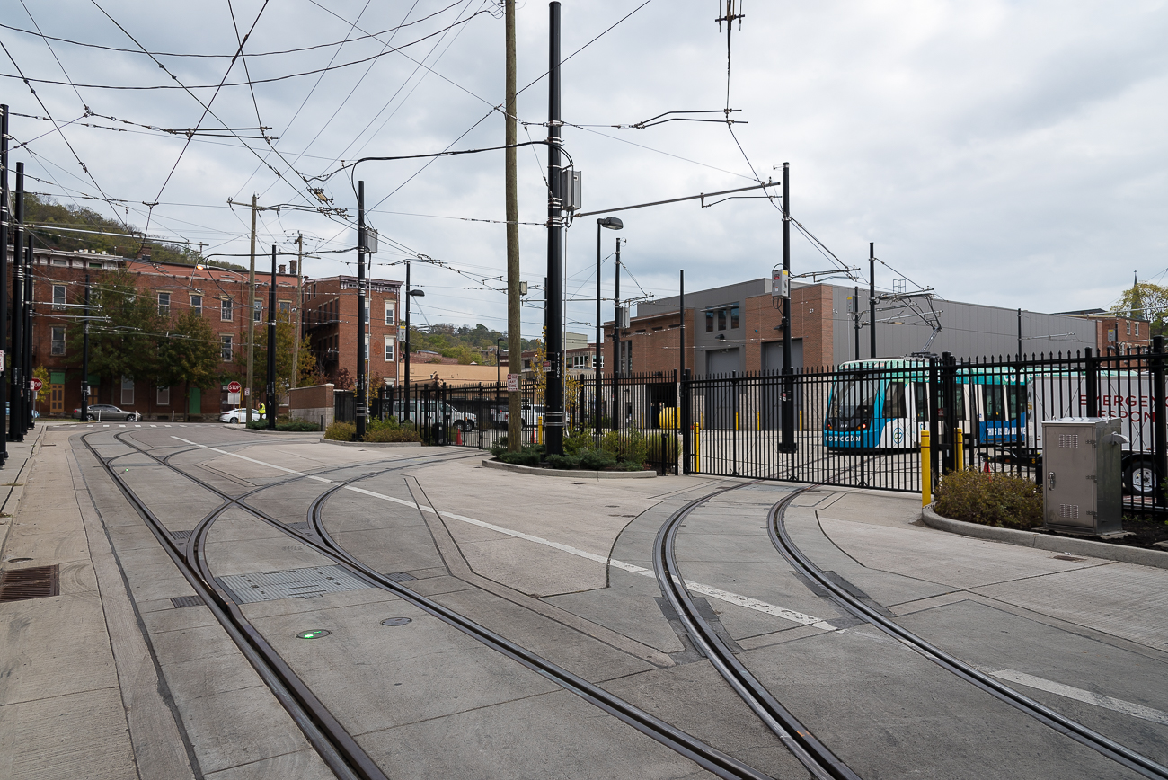 The streetcar maintenance and operations facility (MOF) is where all five Cincinnati Bell Connector cars are washed, worked on, and stored during non-operation hours. The building was completed in 2015, a year before the streetcars themselves would begin shuttling the public around town. Three substations power the entire 3.6 mile loop through Downtown and Over-the-Rhine. There are 18 stations scattered along the route and the MOF serves as the beginning and end destination for streetcars every day. The MOF is bounded by Rhinegeist Brewery to the west and Rookwood Pottery Co. to the east. ADDRESS: 1927 Race Street (45202) / Image: Phil Armstrong, Cincinnati Refined // Published: 11.13.17