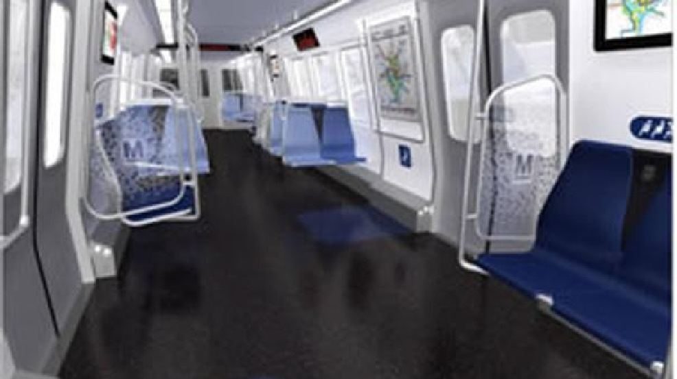 new 7000 series metro rail cars debut on red line wjla. Black Bedroom Furniture Sets. Home Design Ideas