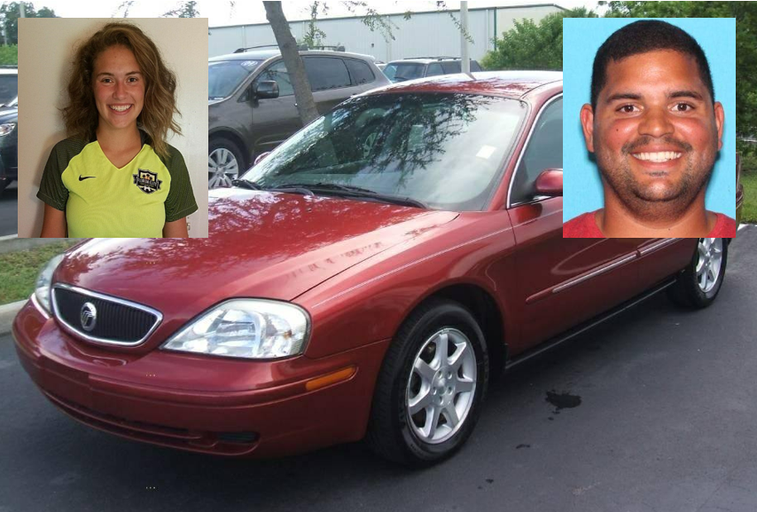 The Florida Department of Law Enforcement says Caitlyn Frisina is believed to be with 27-year-old Rian Rodriguez. They are believed to be traveling north in a{&amp;nbsp;}red 2001 Mercury Sable, Florida tag number Z04CSC. (CCSO)<p></p>
