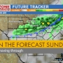 Chance of rain Sunday morning