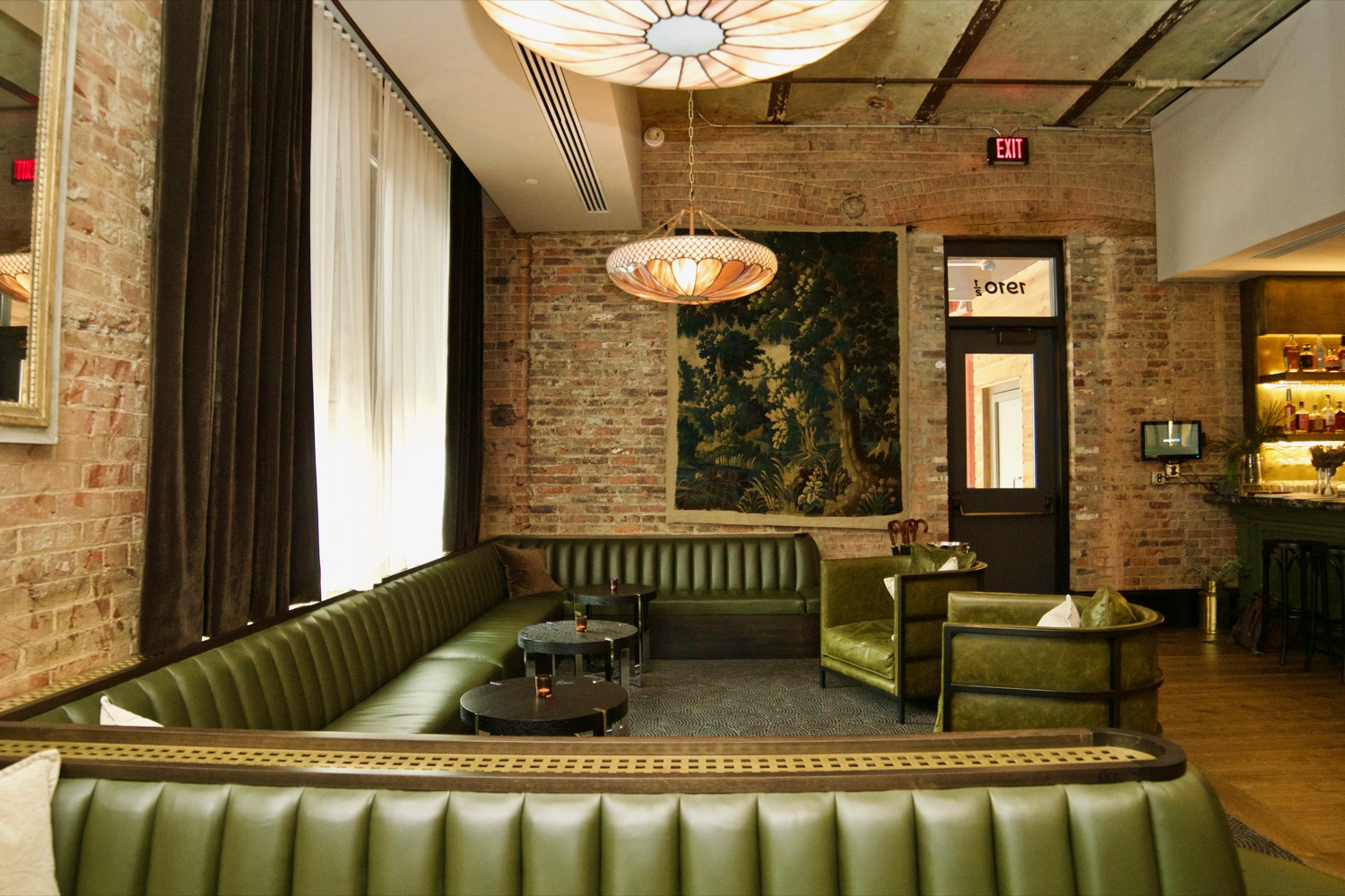 "Pictured: The bar/lounge area at Sartre from the story ""French Existentialism Hits Cincinnati With Sartre, OTR's Coolest New Restaurant"" / Image: Brian Planalp // Published: 12.31.17"