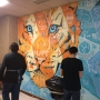 Oaklea students paint murals in school halls