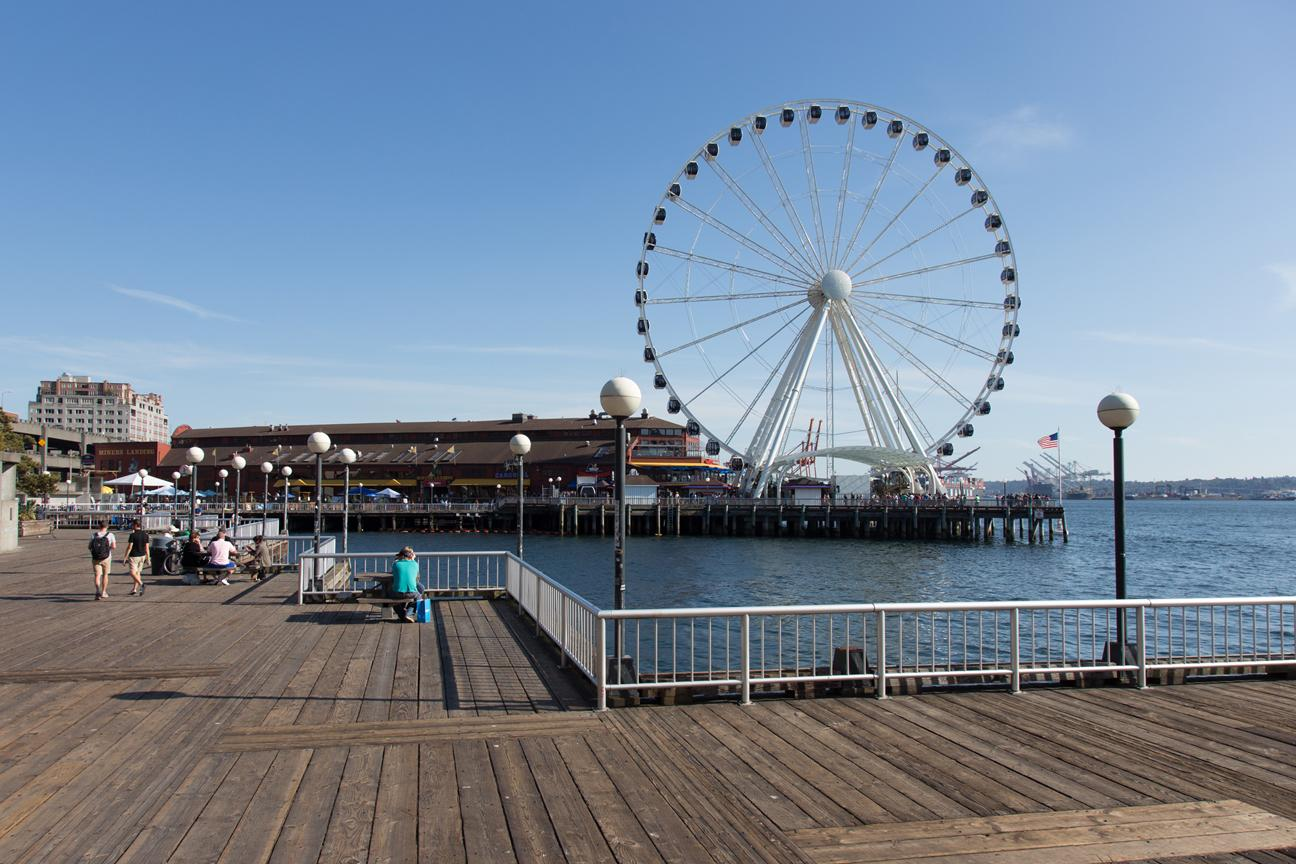 The 175 feet tall Seattle Great Wheel. (Photo courtesy of Visit Seattle/Howard Frisk Photography)