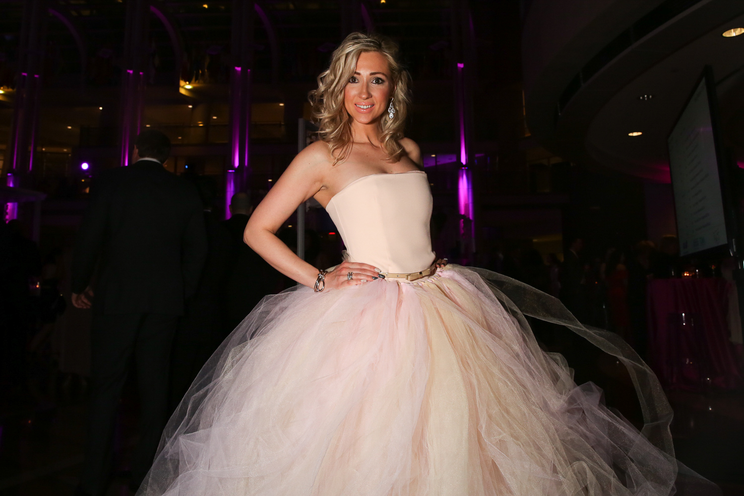 <p>Natalia Persiyanova was a vision in tulle at the annual Pink Tie Party.{&amp;nbsp;} (Amanda Andrade-Rhoades/DC Refined)</p>