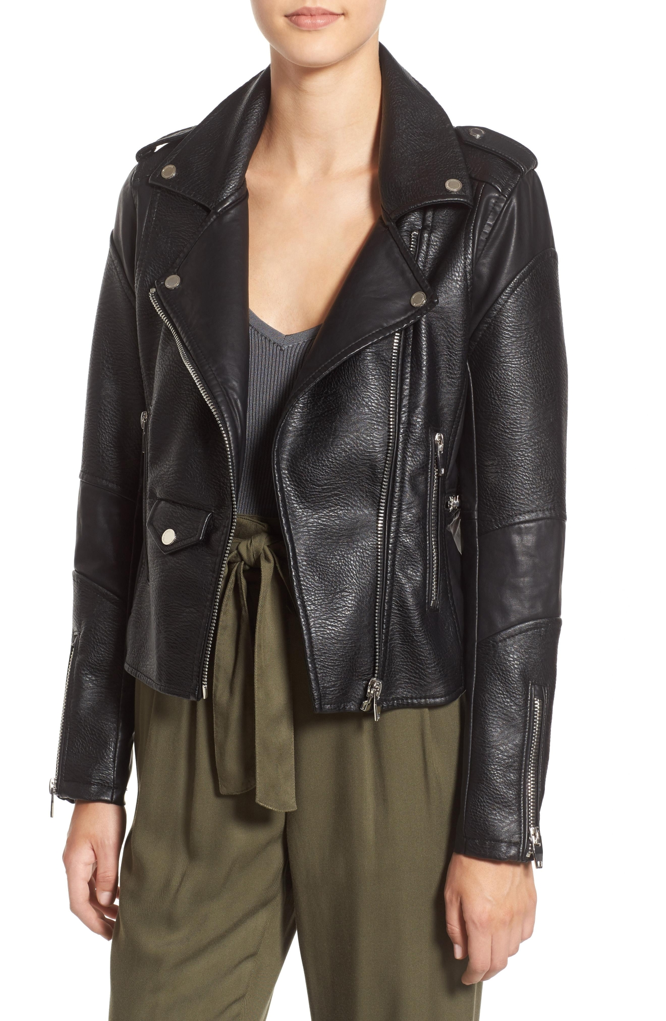 BLANKNYC 'Easy Rider' Faux Leather Moto Jacket (Nordstrom)