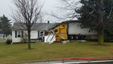 Man hospitalized after semi crash destroys his Union County home