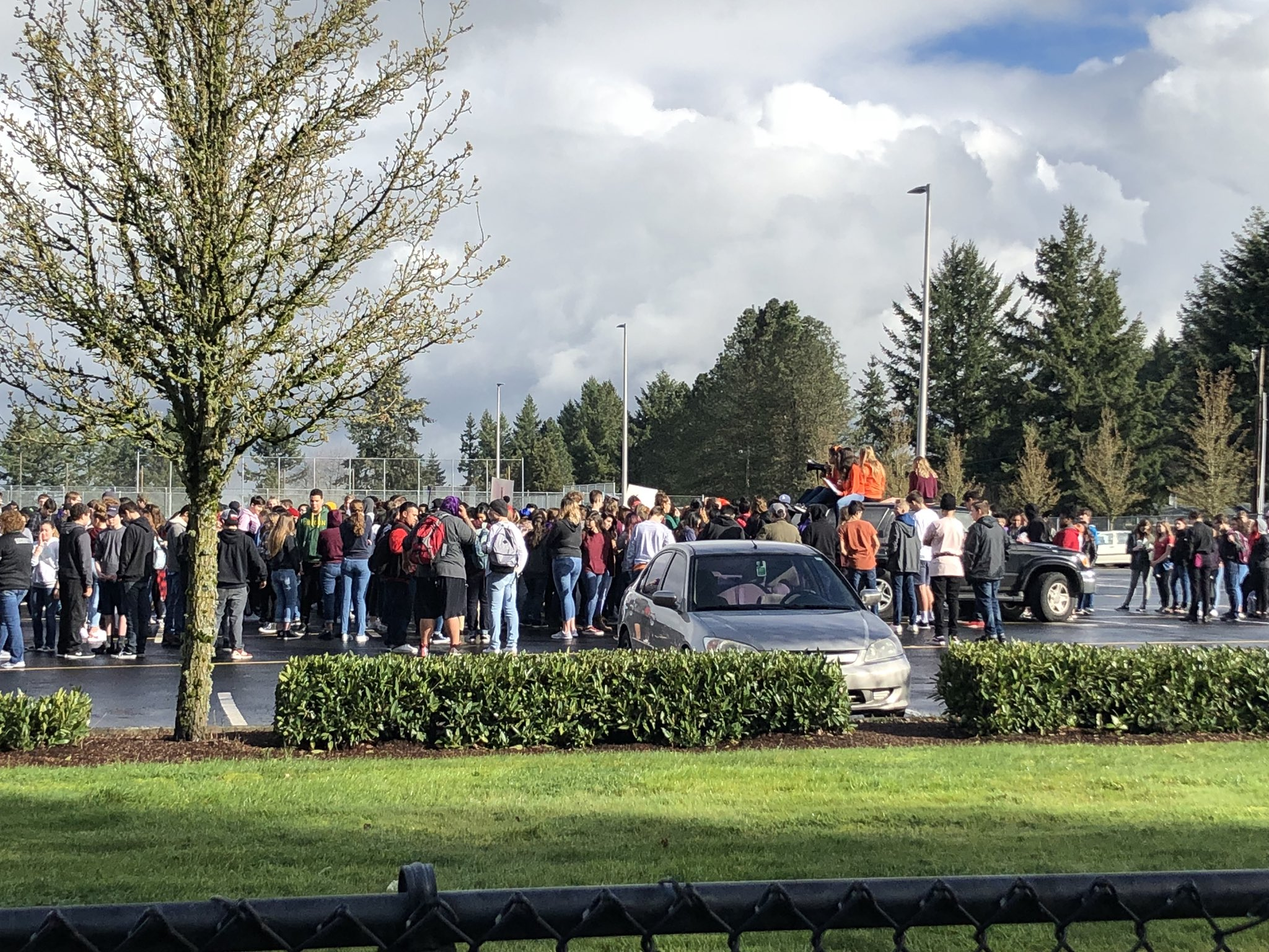 Share your walkout photos with KATU News for a chance to be featured on air or online at Burst.com/KATU{ }