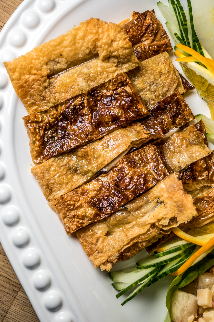 Vegetarian goose filled with bean curd and shitake mushrooms from the Four Seasons Platter / Image: Catherine Viox{ }// Published: 1.15.20