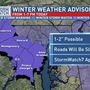 "Winter Weather Advisory for DC and Baltimore, up to 2"" of snow possible"