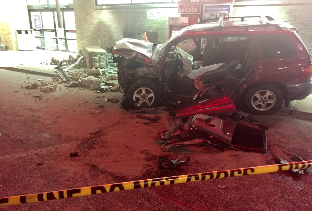 Westwood Walgreens shut down after woman in SUV smashes into building (TR Gormley / WKRC)
