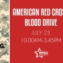 Army strong American Red Cross blood drive