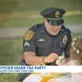 Toddler holds tea party for officer who saved her life