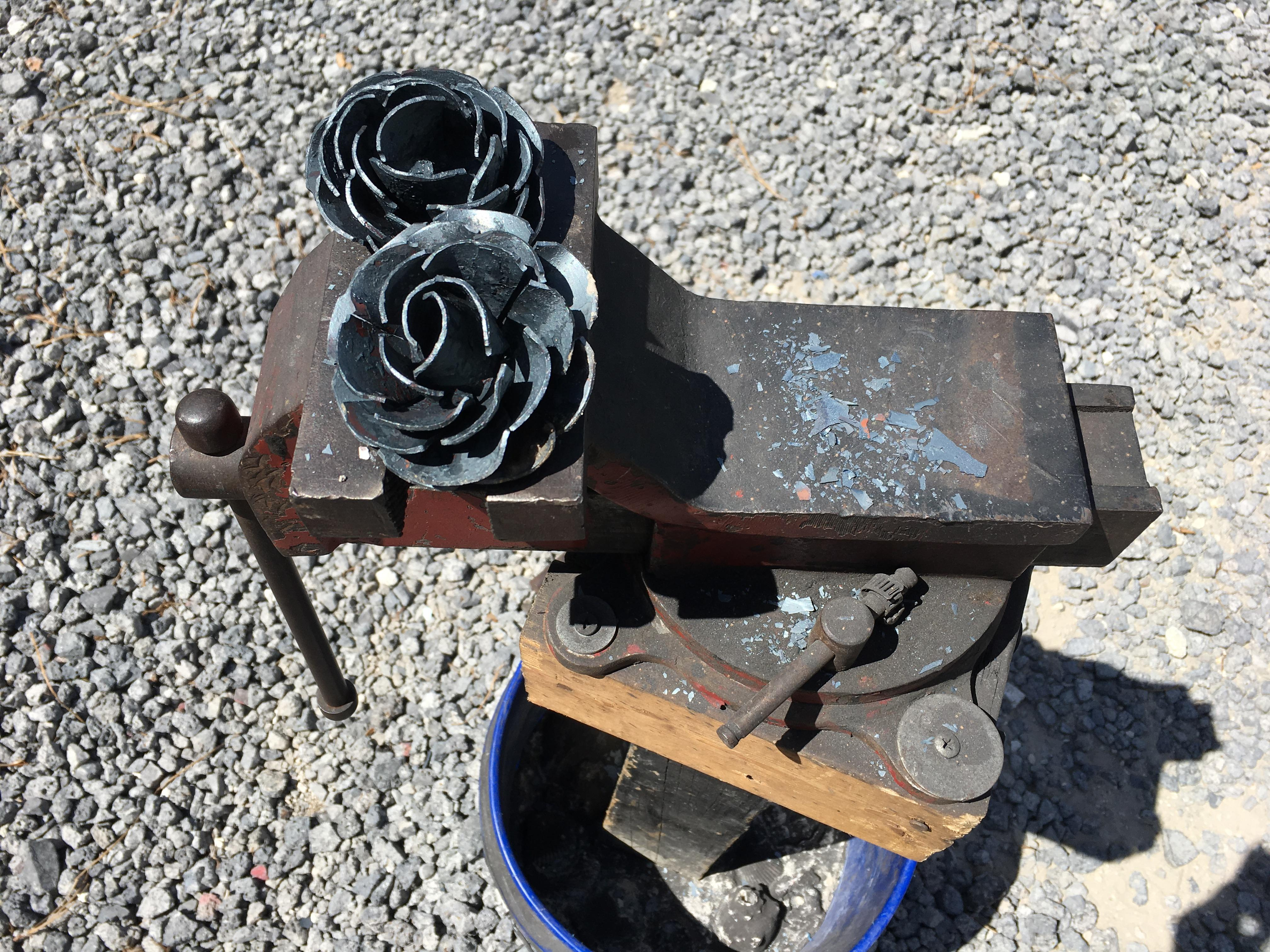Finished roses from the blacksmith class with Pirate's Forge (Photo by Lani Furbank)