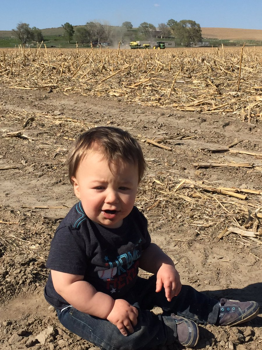 "Nick asys ""he's loving his first planting season! Not so much love for the taste of dirt though"" (Nick Cox"