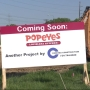 CONSTRUCTION UPDATE:  Popeyes Chicken