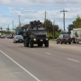 Police in armored vehicles invading Garden City? It's actually driver training
