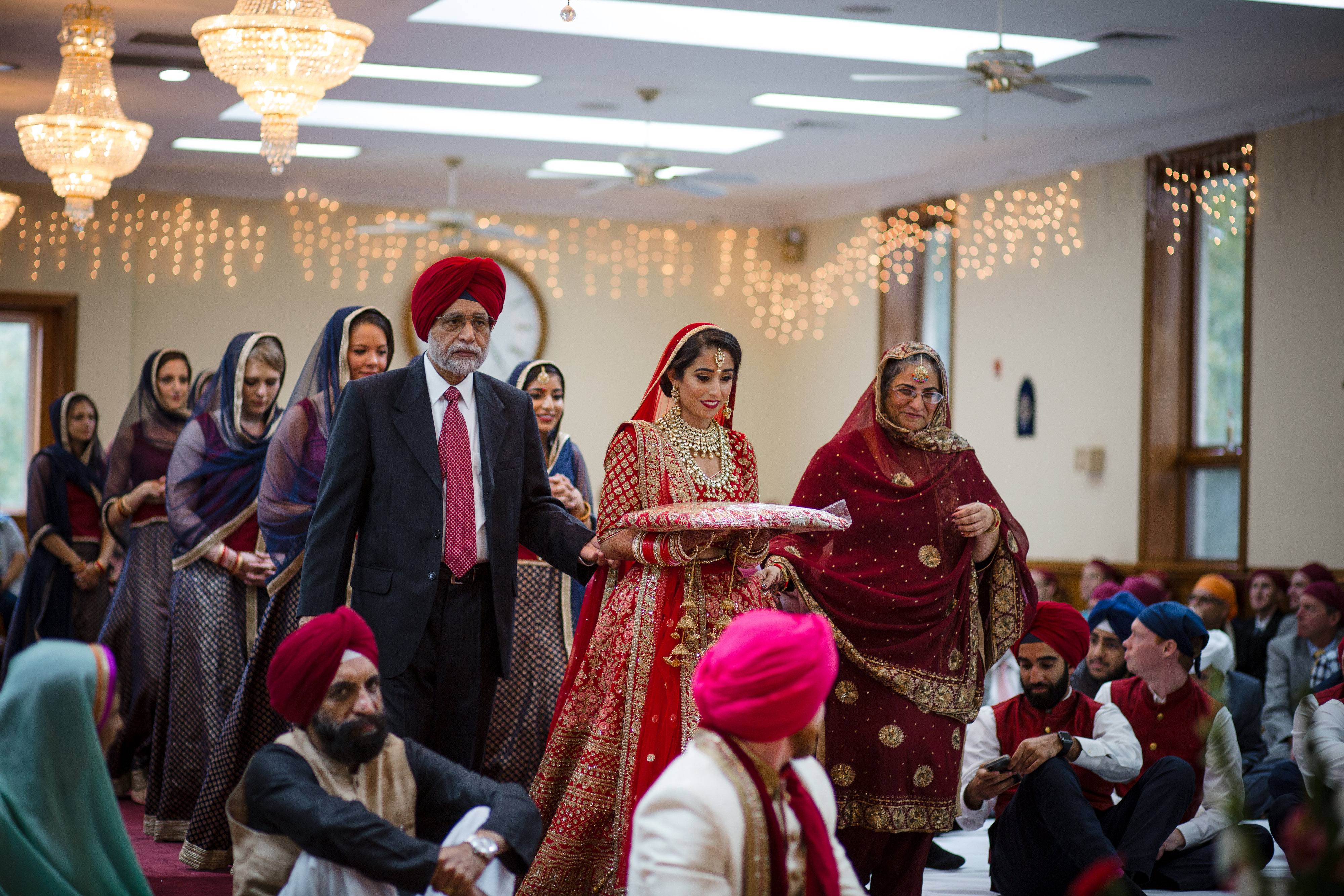 Manmeet says that while wedding planning can be exhausting, she and Bryan were thrilled to have everyone they loved in one place for several days. (Image: Laura Bryan Photography){ }