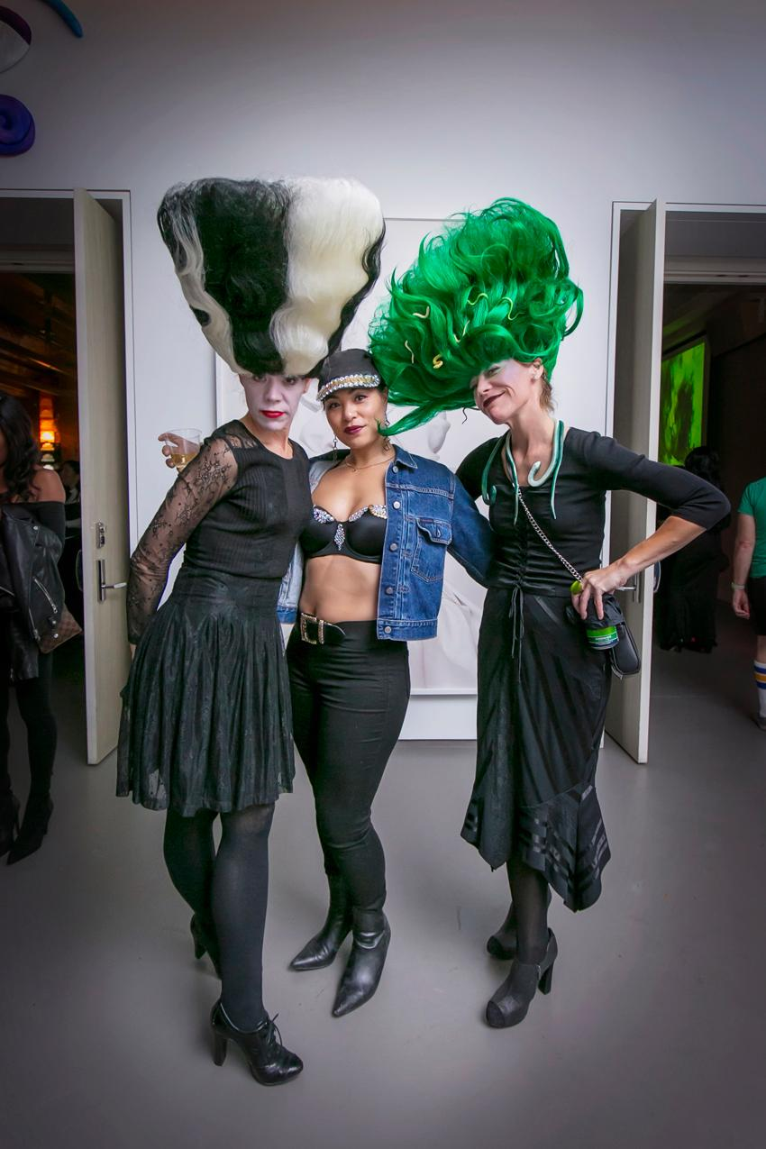 Lisa Schreiber, Tricia Siler, and Susan Schreiber at the 21c Museum Hotel Halloween party / Image: Mike Bresnen Photography // Published: 11.1.19