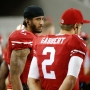 Niners QB Kaepernick refuses to stand for anthem in protest