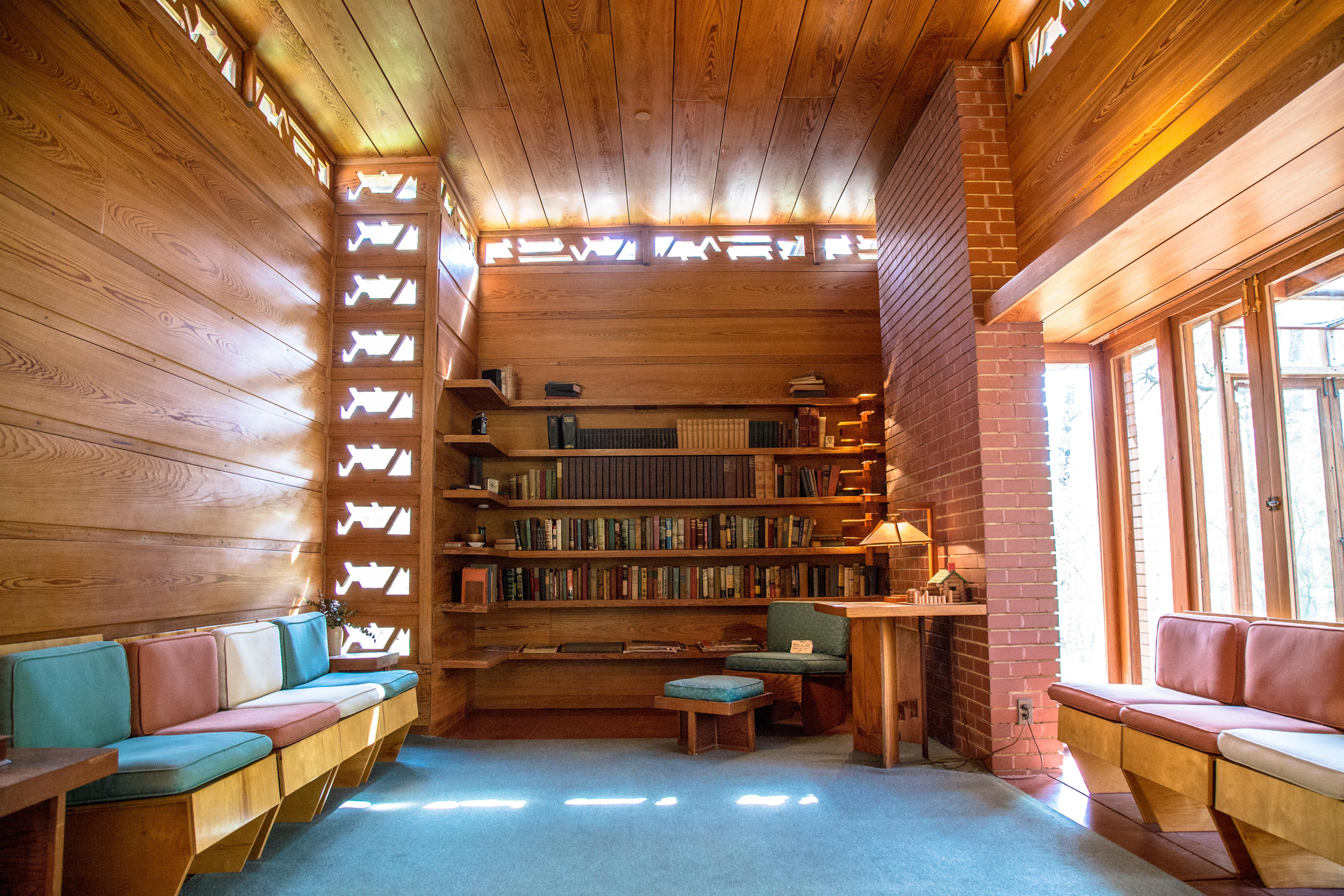Frank Lloyd Wright's Pope Leighey House (Image: M Enriquez for Visit Alexandria){ }