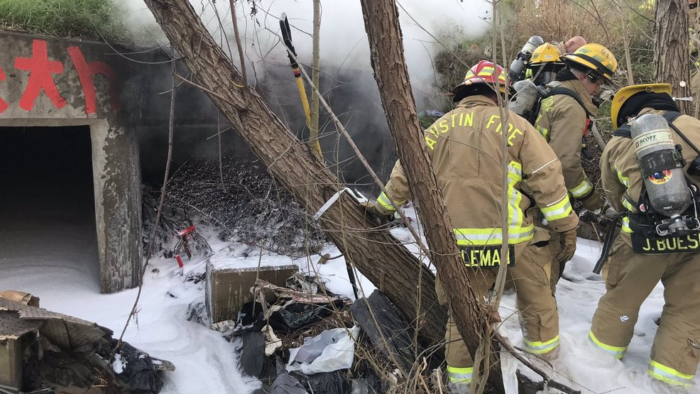 Austin Fire Department responds to fire in storm water tunnel
