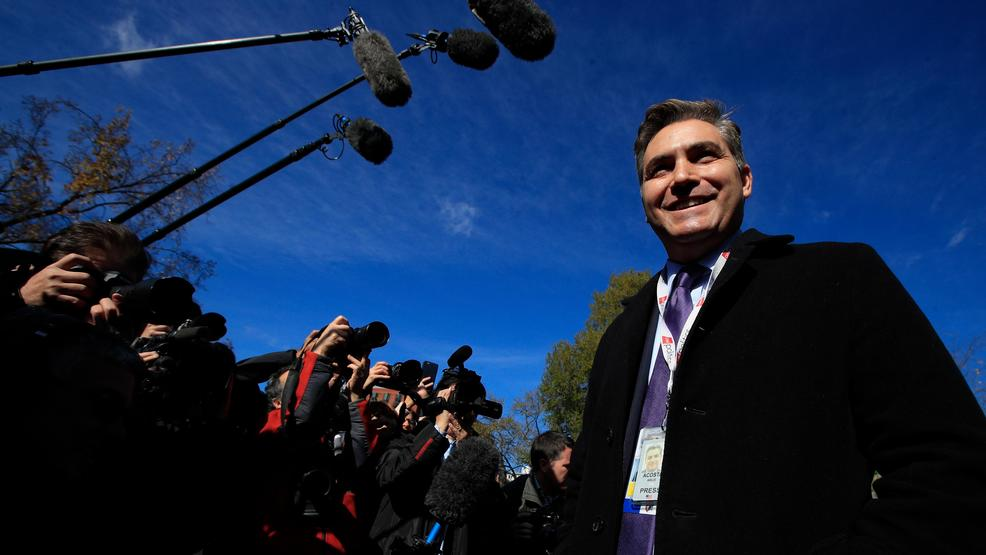 Jim Acosta smug after winning initial court ruling vs white house AP12.jpg