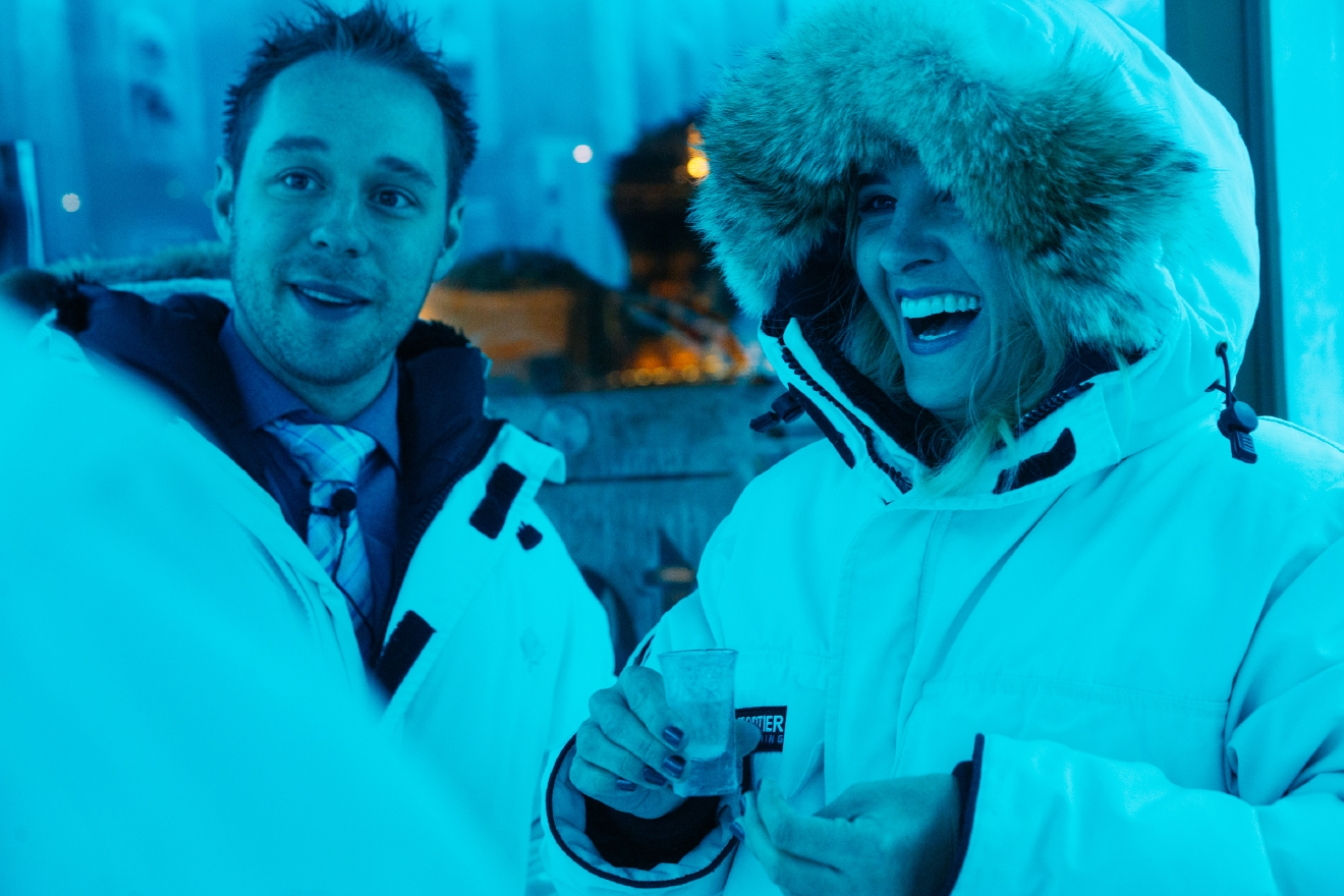 At -32C (-25F) the Ketel One Ice Room is the world's coldest vodka tasting room – and the only permanent sub-zero vodka room in Canada. (Image: Joshua Lewis / Seattle Refined)