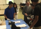 This school has a 100-percent grad rate; Rep. Joe Heck toured it today. (Jeff Gillan KSNV News 3).jpg