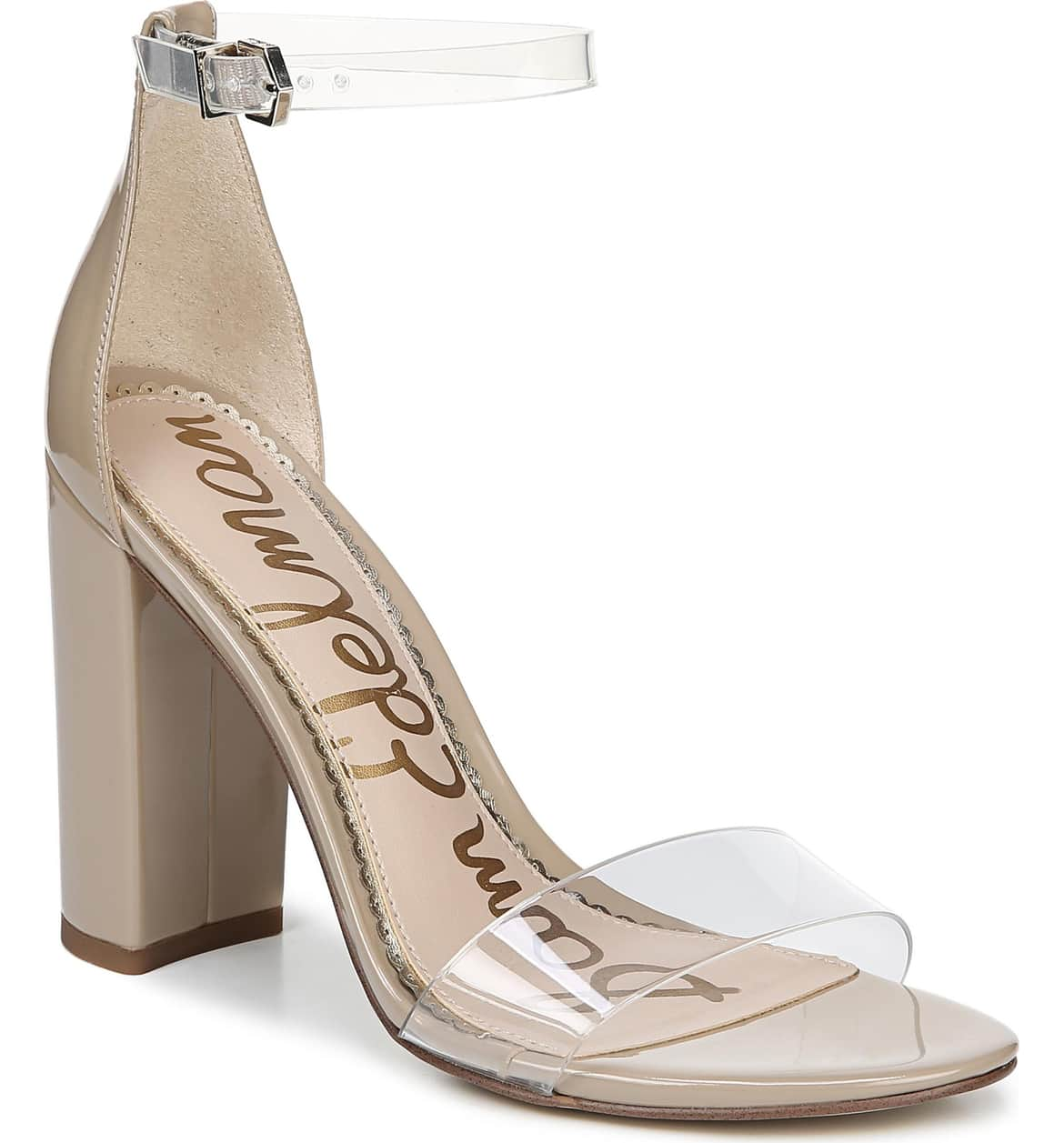 <p>Modern and minimalist, an essential ankle-strap sandal set on a chunky wrapped heel serves as a versatile go-to style. $119.95 (Image: Nordstrom){&nbsp;}</p><p></p>