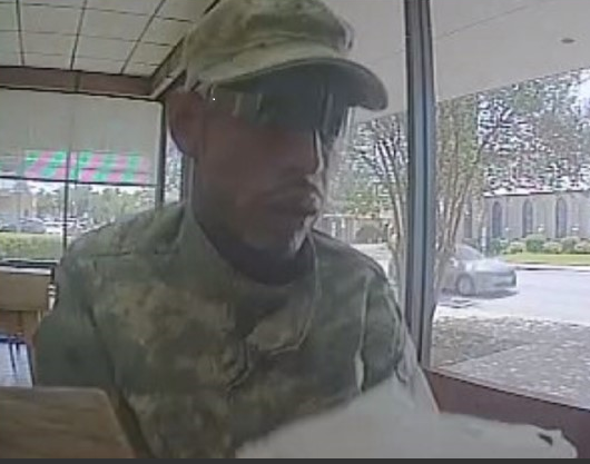 Police are asking for the public's help in identifying a man they say robbed a bank Monday afternoon in Bastrop. (Photo courtesy: Bastrop Police Department)