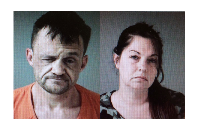 Jason Laur, 43, and Angela Willnow, 44 (left to right) are both facing multiple charges after a drug bust in Cheboygan County. (Photo Courtesy: Michigan State Police)