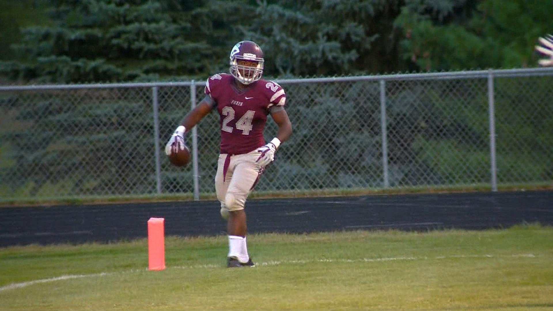 Fox Valley Lutheran running back Zyne Rodencal is second in the state in rushign with 888 yards.