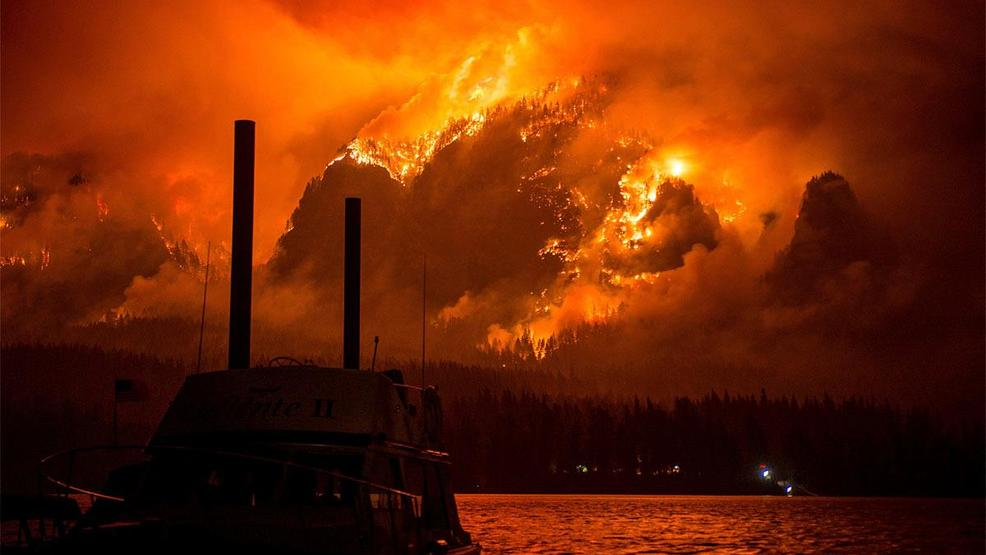 4 2017 Photo Provided By Katu Tv Shows The Eagle Creek Wildfire As Seen From Stevenson Wash Across The Columbia River Burning In The Columbia River