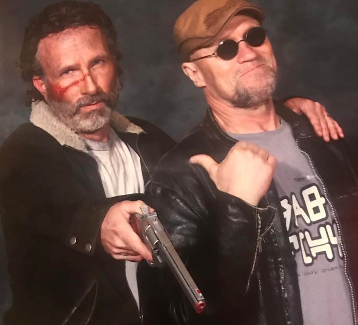 "Fred Williams with actor Michael Rooker (""Merle"" on The Walking Dead) at Lexington's Comic and Toy Convention."