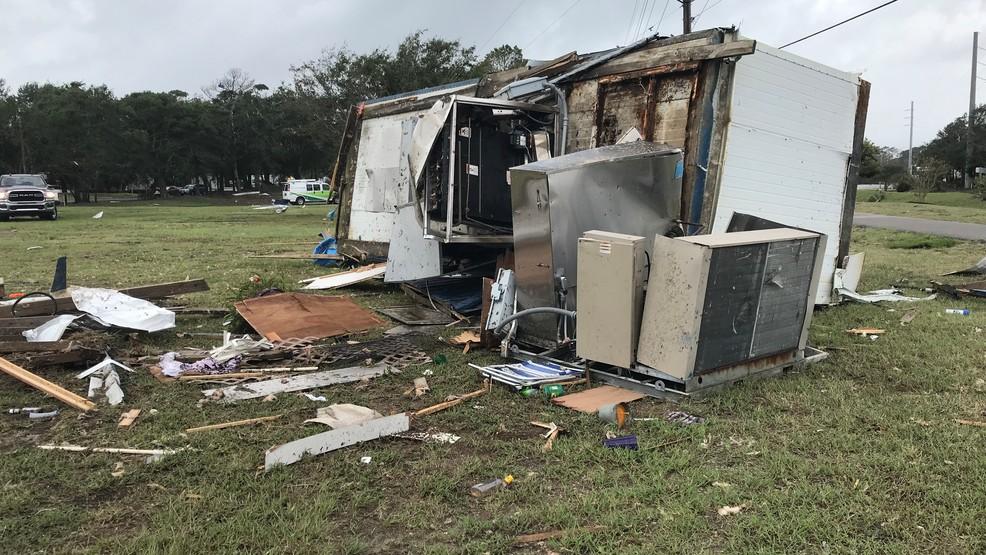 Tornado hits RV park in North Carolina as Hurricane Dorian
