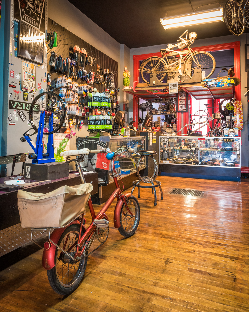 SPUN Bicycles is more than a place to buy bikes, it's a full on bicycle shop. Repairs, custom builds, accessories, and friends within the biking community are all part of the SPUN experience. ADDRESS: 4122 A Hamilton Ave., Cincinnati, OH 45223 / Image: Phil Armstrong, Cincinnati Refined // Published: 3.19.17