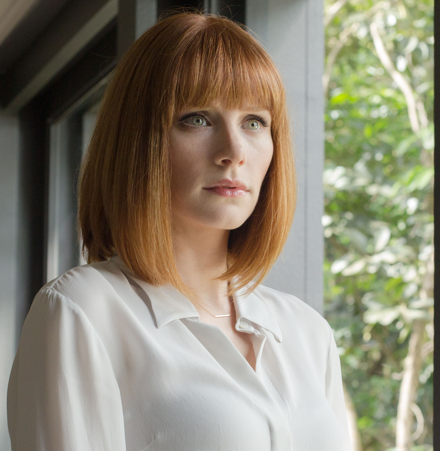 "Bryce Dallas Howard stars as Claire Dearing in ""Jurassic World"" (2015). (Universal Studios/Amblin Entertainment, Inc.)"