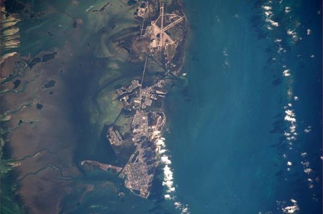 Looked like a great day in Key West, FL! (Photo & Caption: Mike Hopkins, NASA)