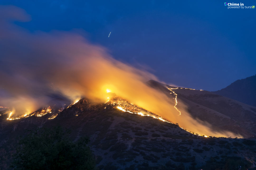 Ether Hollow Fire in Hobble Creek Canyon (Photo: Scott Finlayson)
