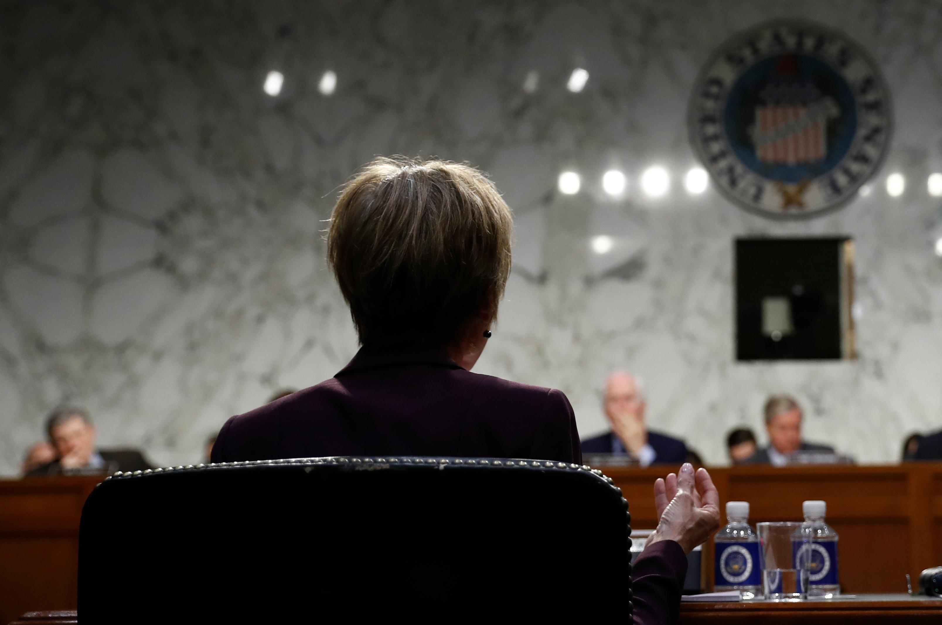 "Former acting Attorney General Sally Yates testifies on Capitol Hill in Washington, Monday, May 8, 2017, before the Senate Judiciary subcommittee on Crime and Terrorism hearing: ""Russian Interference in the 2016 United States Election."" (AP Photo/Carolyn Kaster)"