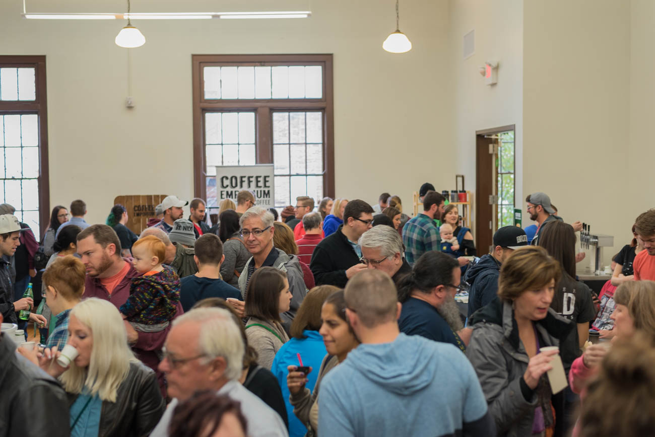 The second annual Pour Over Cincy/NKY: A Coffee Showcase took place on Saturday, November 18 at St. Paul's Episcopal Church in Newport, Kentucky, featuring a variety of local coffee shops and roasteries. / Image: Mike Menke // Published: 11.19.17