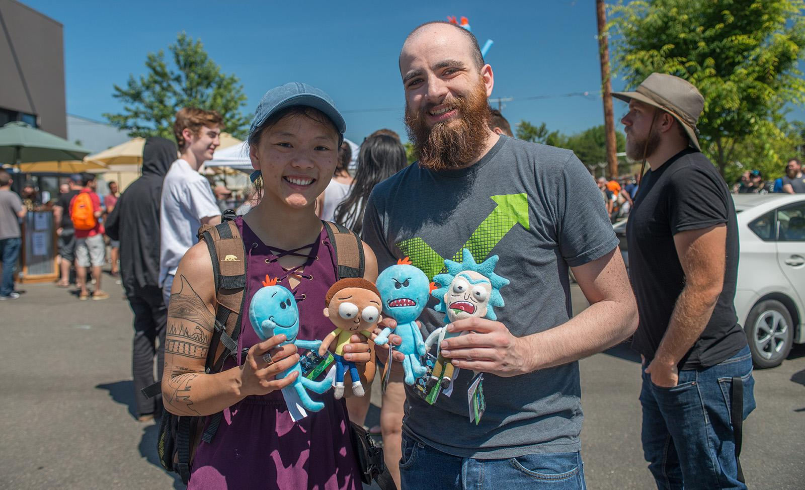 Fans of the TV show Rick and Morty ventured out to Mississippi Ave on Thursday to check out the Rickmobile – a touring truck filled to the brim with limited merchandise. Over 3,000 were expected to come out to Portland's Ecliptic Brewing to check out the van as part of a nationwide promotional tour. (KATU photo taken June 29, 2017 by Tristan Fortsch)