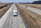 Lanes are closed on Interstate 43 in Brown County, March 20, 2017.