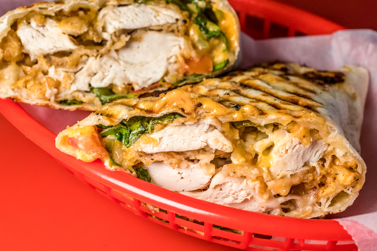 Wrap: two tenders, Caesar salad, cheese, and tomato wrapped in a tortilla / Image: Catherine Viox{ }// Published: 7.9.20