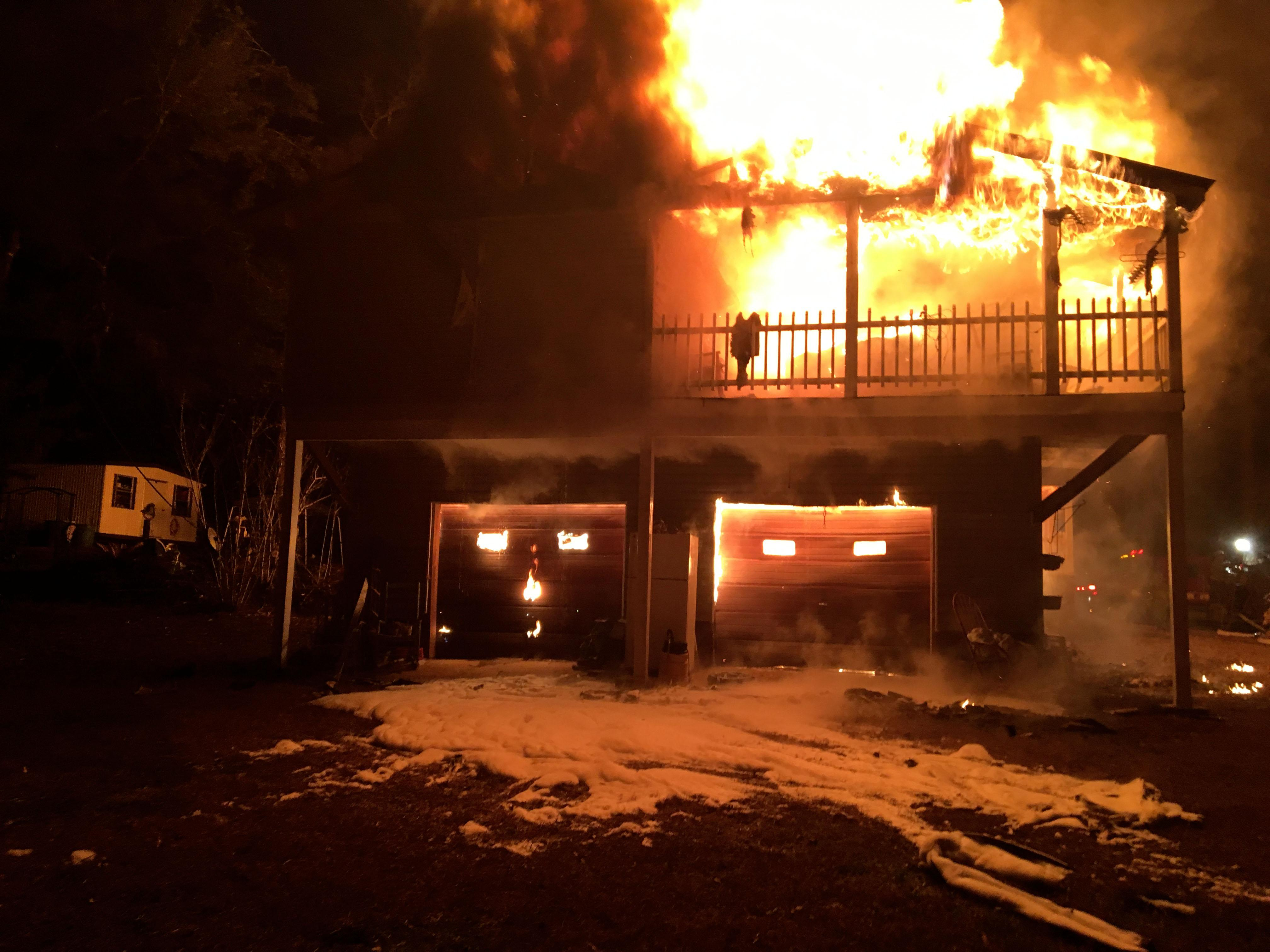 Photo: Rushing Road Structure Fire Source: Walton County Sheriff's Office