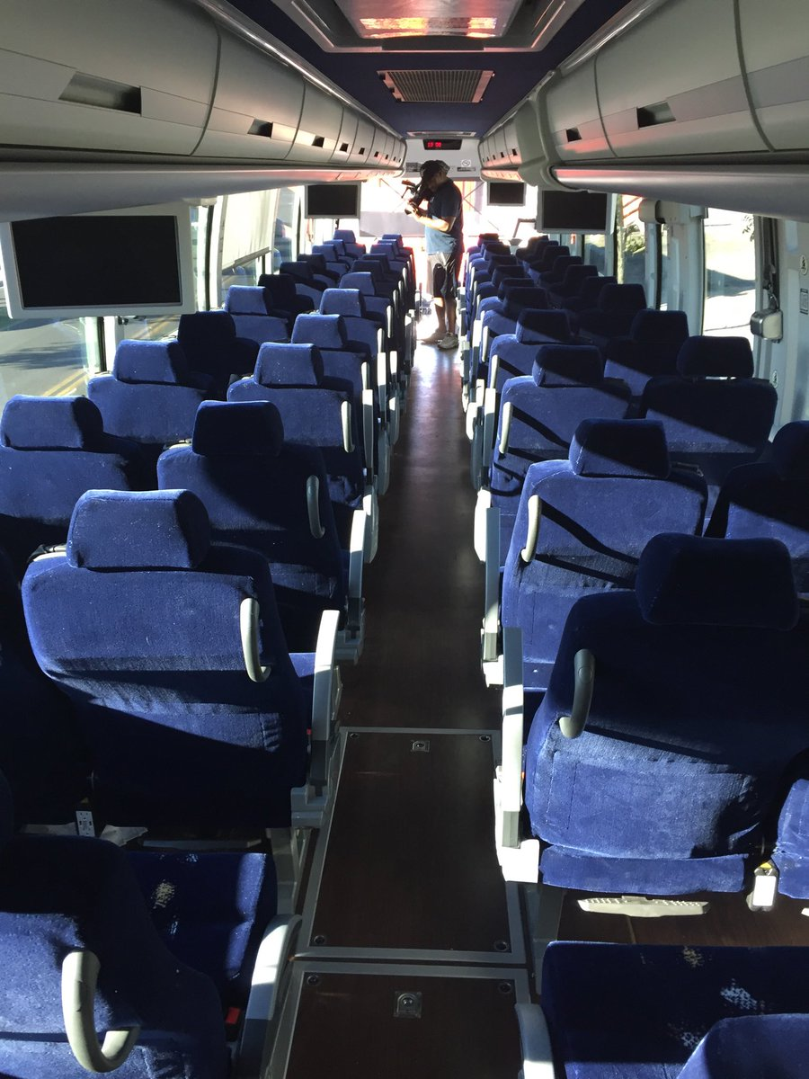It's almost like a plane on the roads. Great a/c. Free WiFi. Movies available. Bathroom and legroom. ?FlixBus? is changing transportation in the SW. (Heather Mills | KSNV){ }