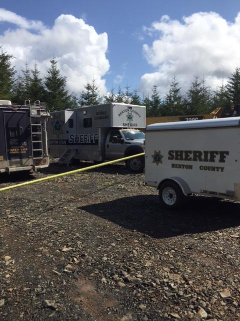 The death of a woman in her 20s found in a remote forested area appears suspicious, the Benton County Sheriff's Office said. Deputies responded to the scene outside Alsea around 5 p.m. Monday. (Photo courtesy Benton County Sheriff's Office)